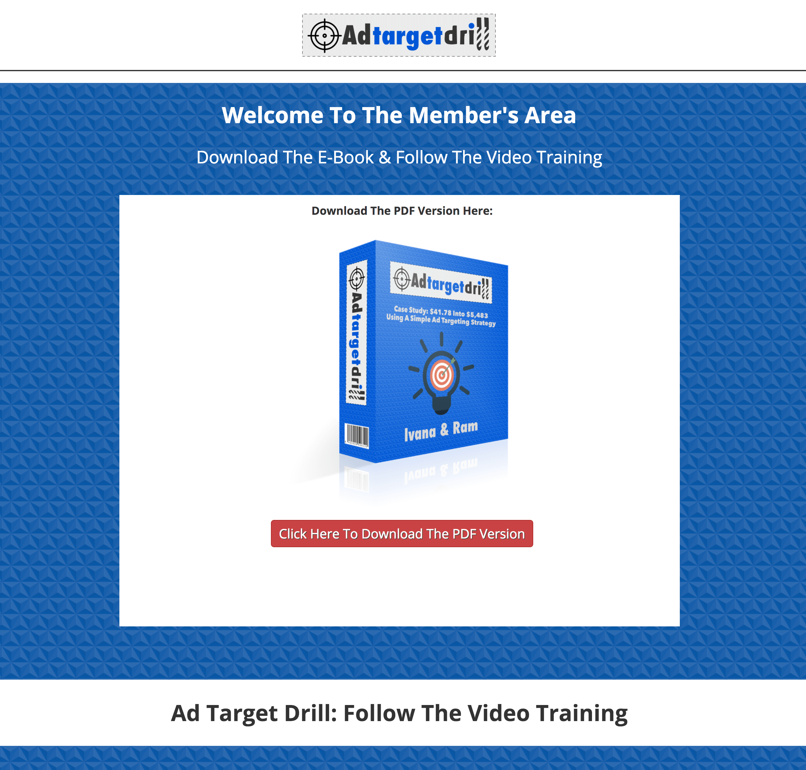 Ad Target Drill Will Get You Buyer Traffic Who are Found on Google (Goldmine) 3
