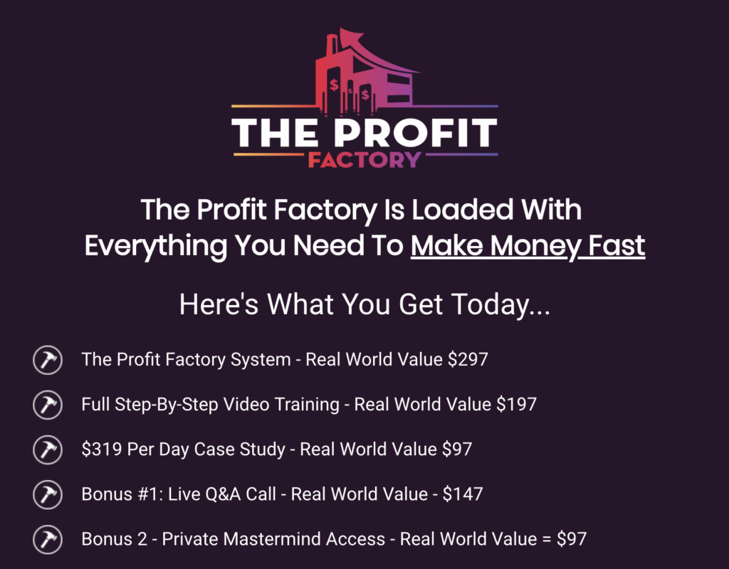 The Profit Factory Review - Easily Make $231.72 Per Day With Simple Little Profit Factories 6