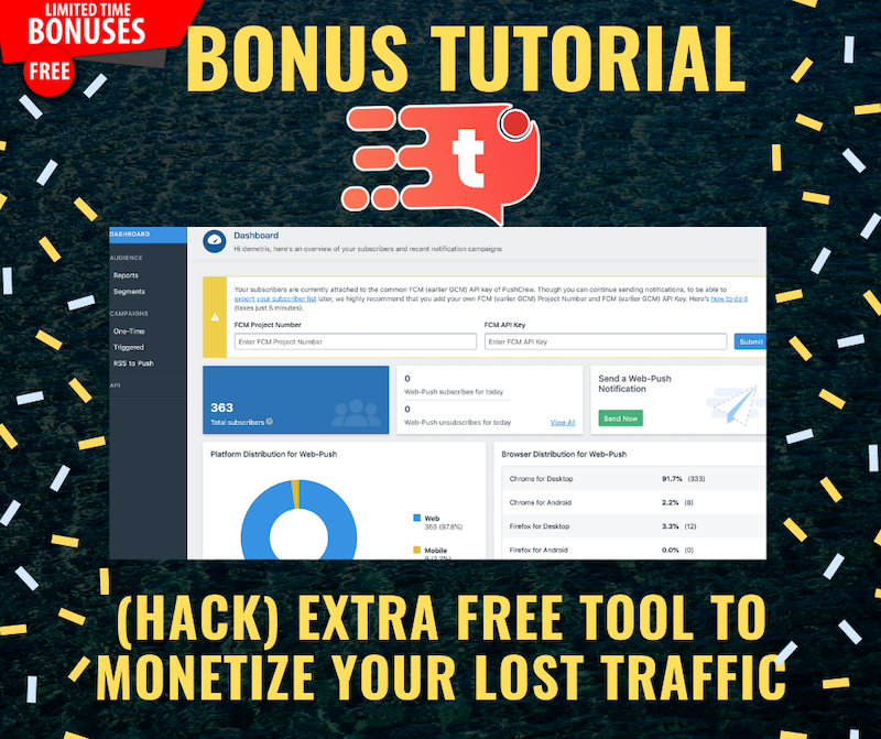 How To Recover Lost Traffic From Any Website or Landing Page using Tab Engage 11
