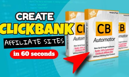 New Software Creates Fully Automated ClickBank Affiliate Sites in 60 Seconds