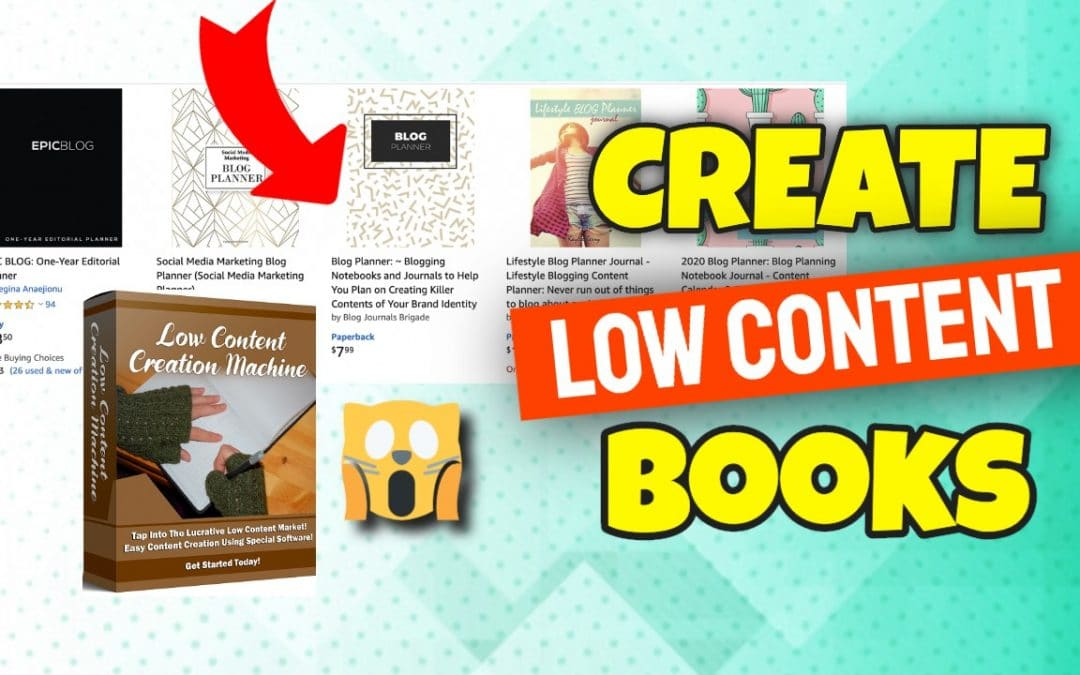 Low Content Creation Machine | Create Your First Low Content Book And Sell It on KDP