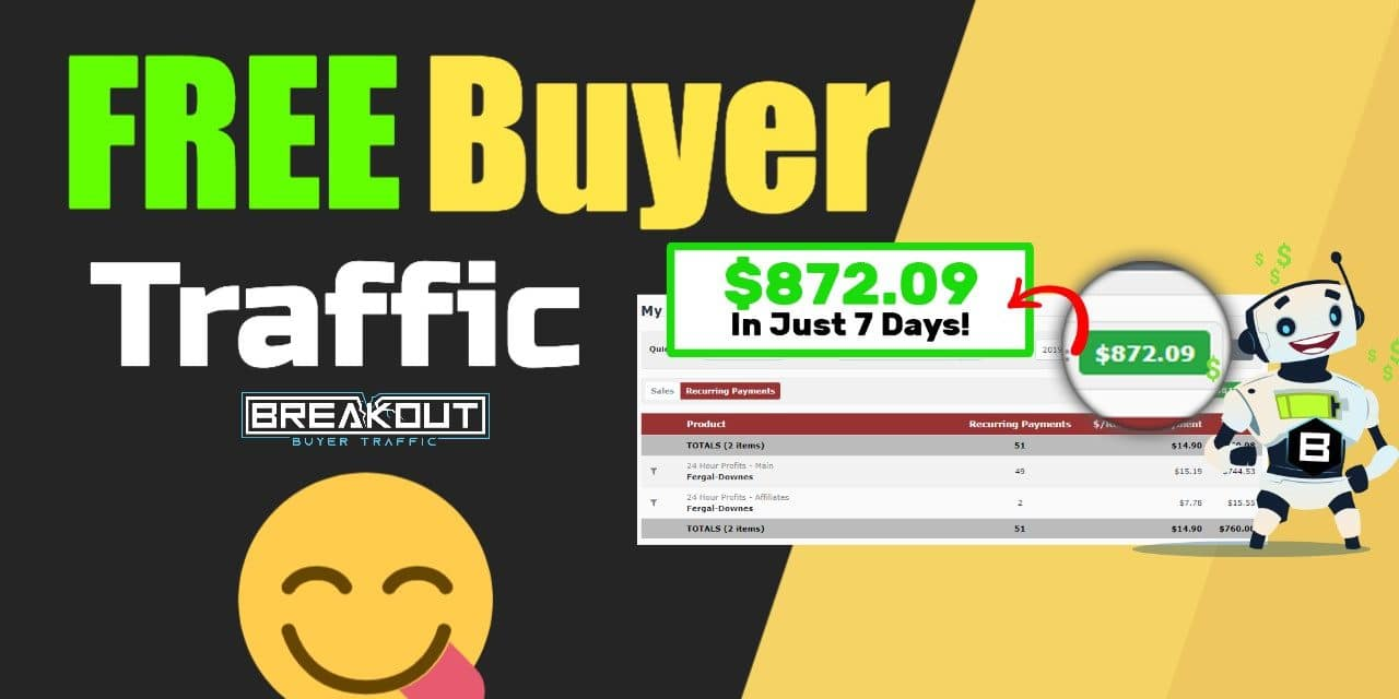 [ BREAKOUT ] How To Make Money With Free Buyer Traffic