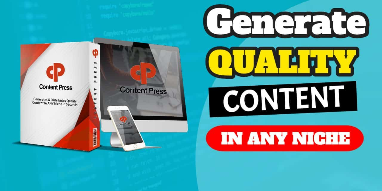 How To Generate and Distribute Quality Content In ANY niche in seconds using ContentPress
