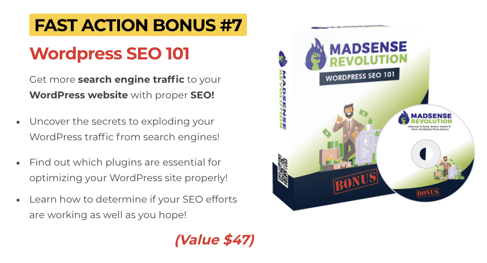 Madsense Revolution : How to get to 100,000 visitors per month and 6 figure income with 0 cost 10