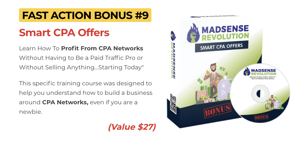 Madsense Revolution : How to get to 100,000 visitors per month and 6 figure income with 0 cost 12